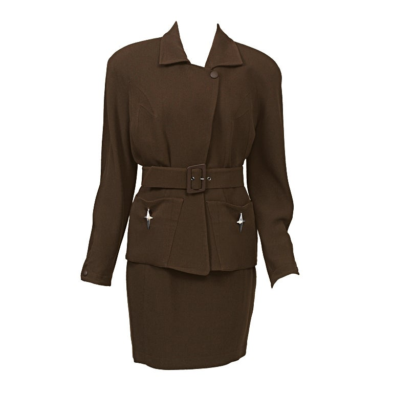 Thierry Mugler Brown Suit