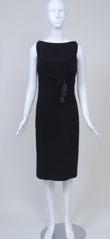 Gianfranco Ferré Black Crepe LBD In Excellent Condition For Sale In Alford, MA
