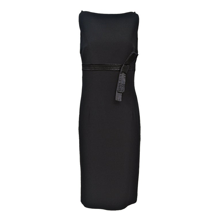 Gianfranco Ferré Black Crepe LBD