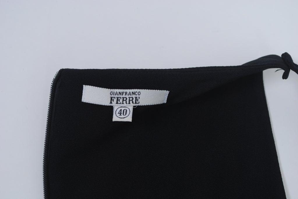 Gianfranco Ferré Black Crepe LBD For Sale 5