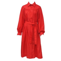 Pauline Trigere Red Raincoat