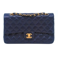 CHANEL CLASSIC NAVY  QUILTED DOUBLE-FLAP HANDBAG thumbnail 1