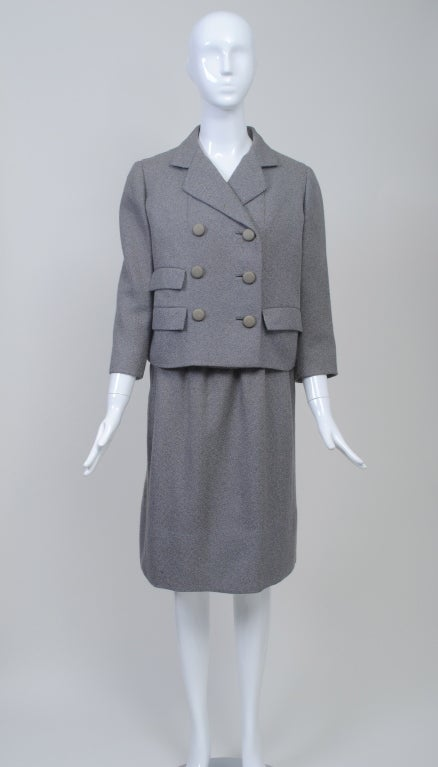 Norell Gray 1960s Suit 2