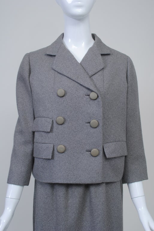 Norell Gray 1960s Suit 3