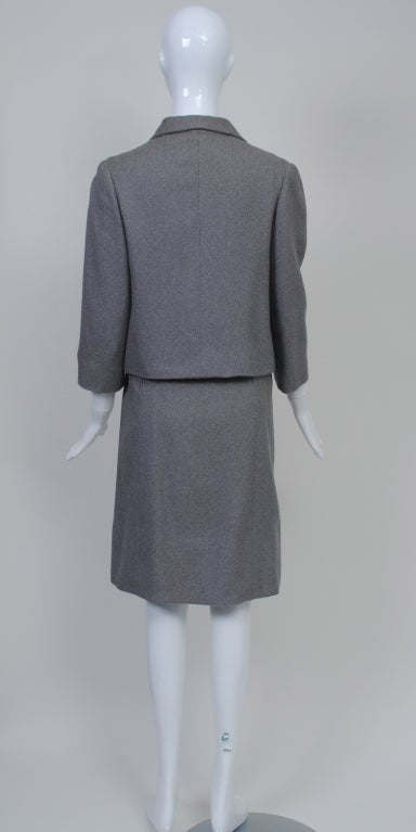 Norell Gray 1960s Suit 4