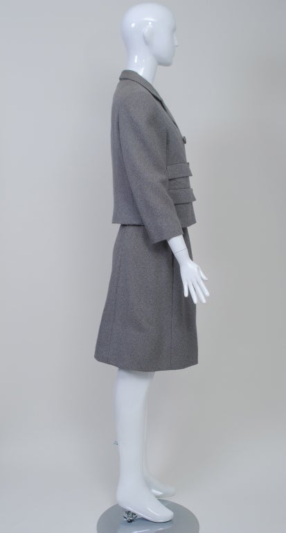 Norell Gray 1960s Suit 5