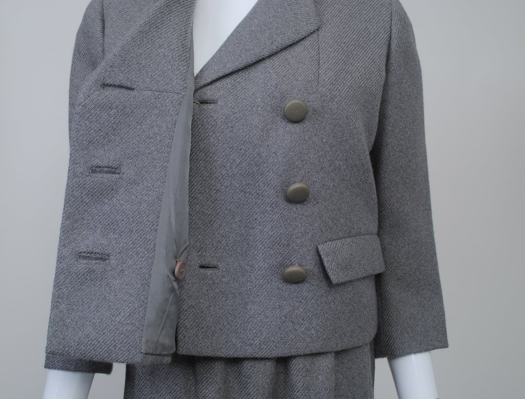 Norell Gray 1960s Suit 6