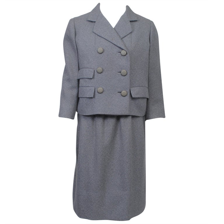 Norell Gray 1960s Suit 1