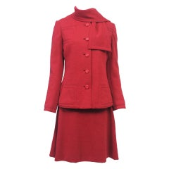 Geoffrey Beene Rust Knit Dress and Jacket