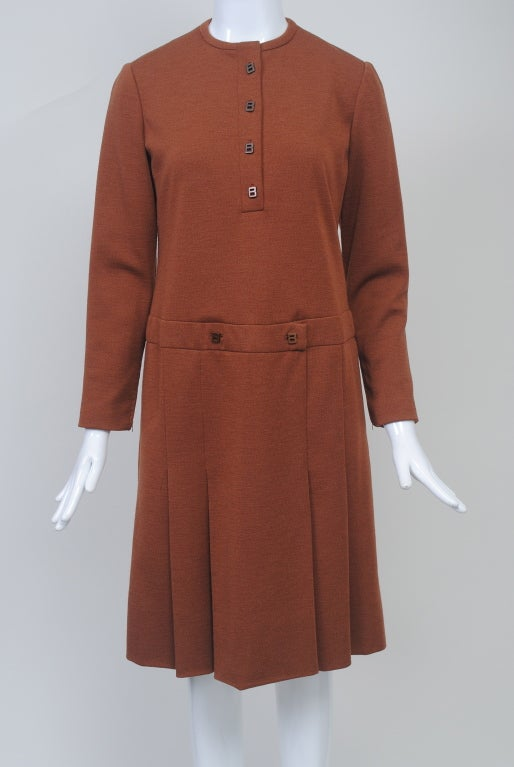 GEOFFREY BEENE SIENNA KNIT DRESS, c.1970 2