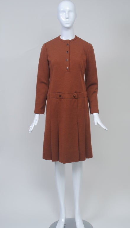 GEOFFREY BEENE SIENNA KNIT DRESS, c.1970 3