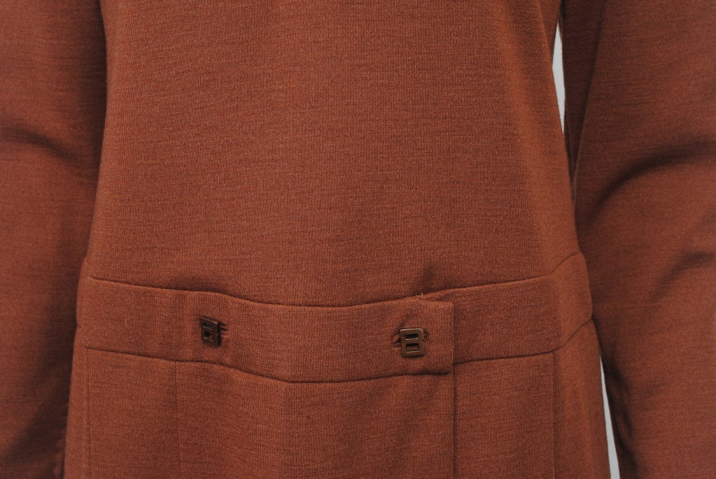 GEOFFREY BEENE SIENNA KNIT DRESS, c.1970 5