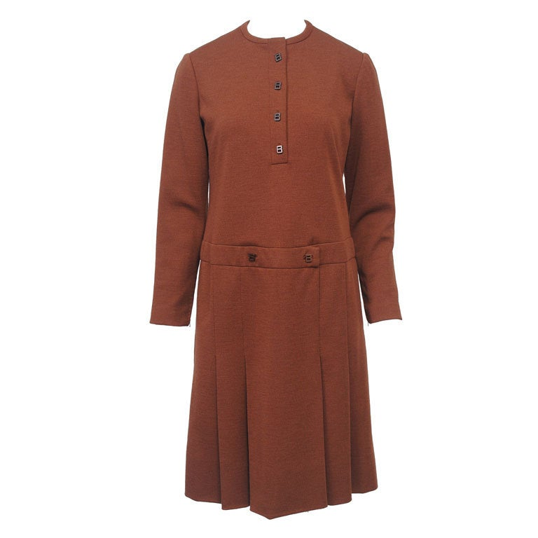 GEOFFREY BEENE SIENNA KNIT DRESS, c.1970 1