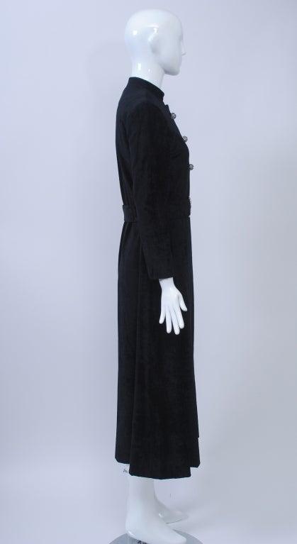 Women's CRUSHED VELVET MAXI COAT WITH RHINESTONE TRIM For Sale