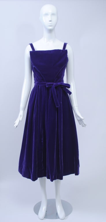 SUZY PERETTE PURPLE VELVET DRESS 2