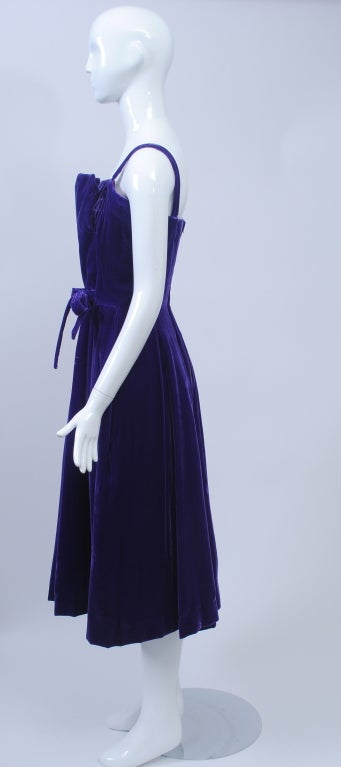 SUZY PERETTE PURPLE VELVET DRESS 3