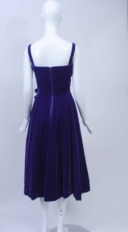 SUZY PERETTE PURPLE VELVET DRESS 5
