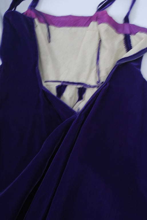 SUZY PERETTE PURPLE VELVET DRESS 6