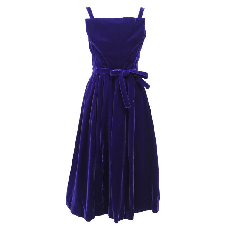 SUZY PERETTE PURPLE VELVET DRESS 1