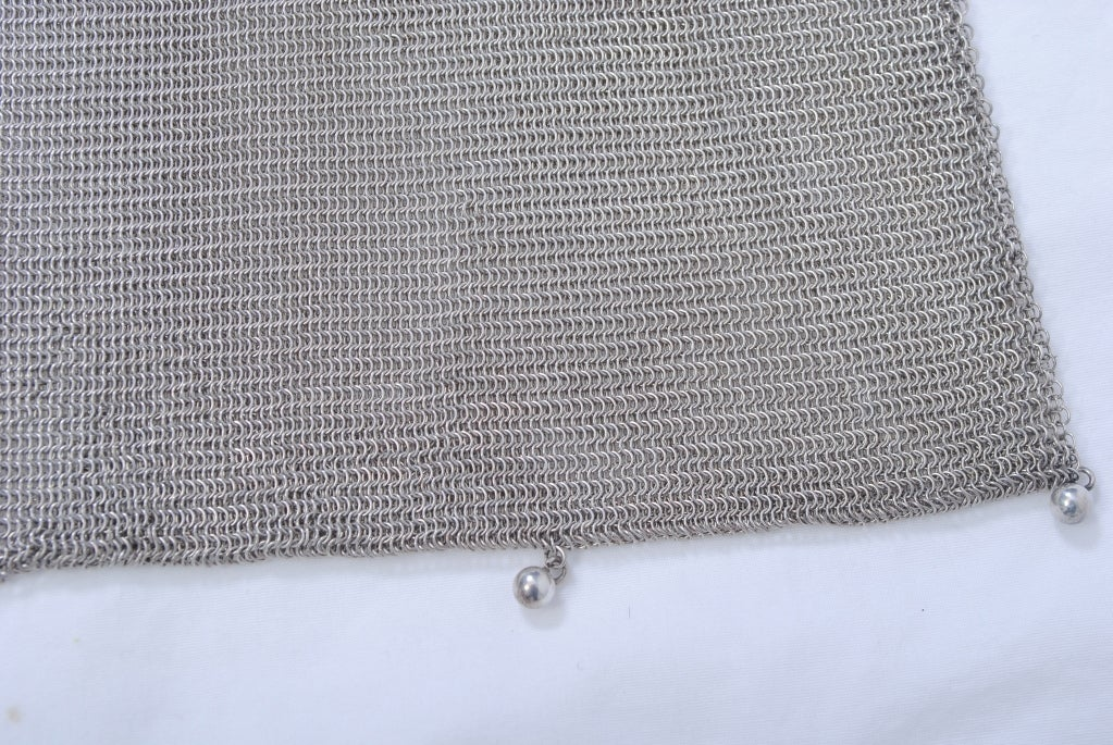 1920s Silverplate Chainmail Evening Bag image 3