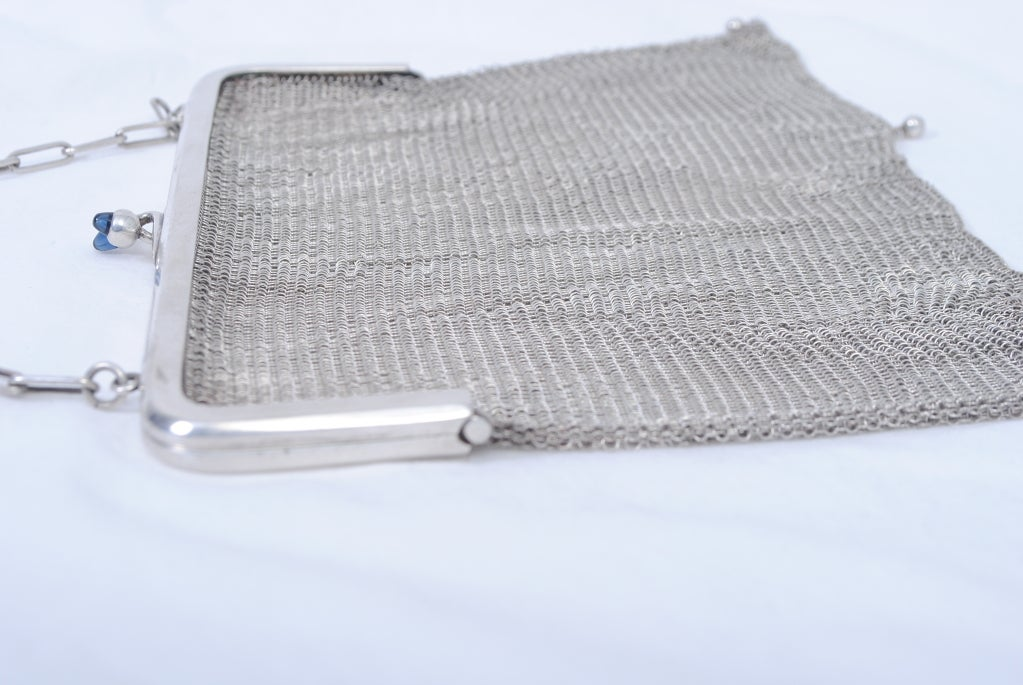 1920s Silverplate Chainmail Evening Bag image 7