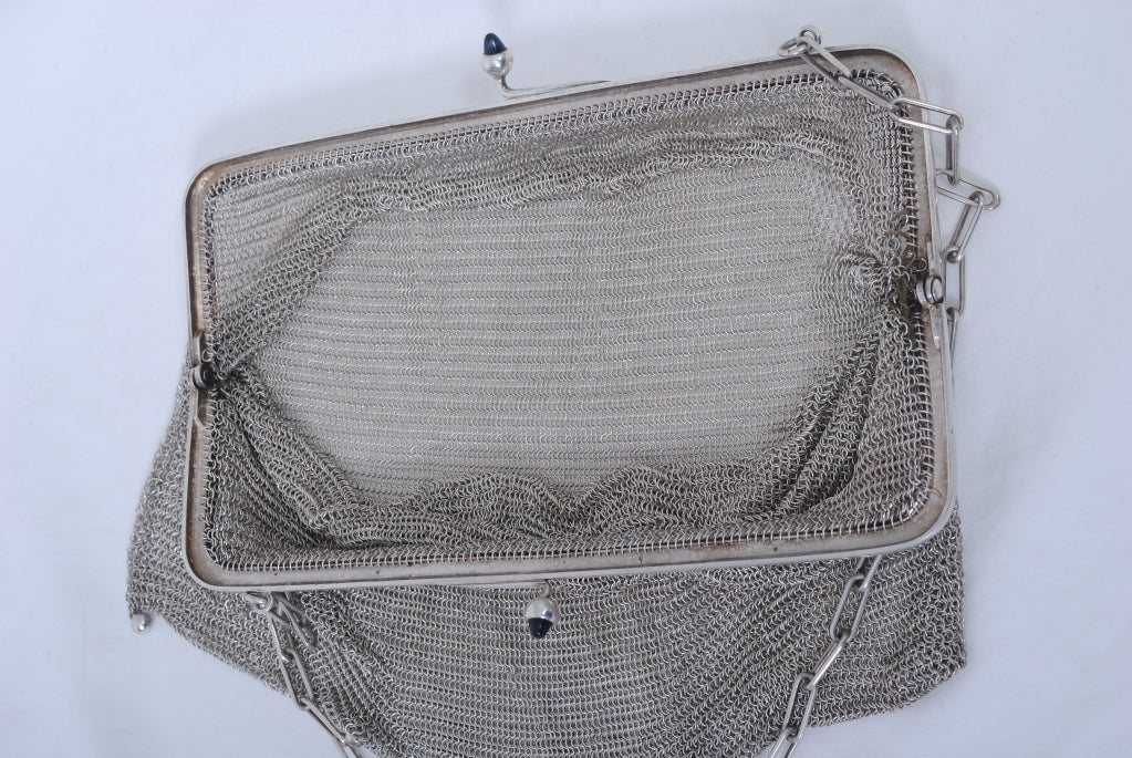1920s Silverplate Chainmail Evening Bag image 8