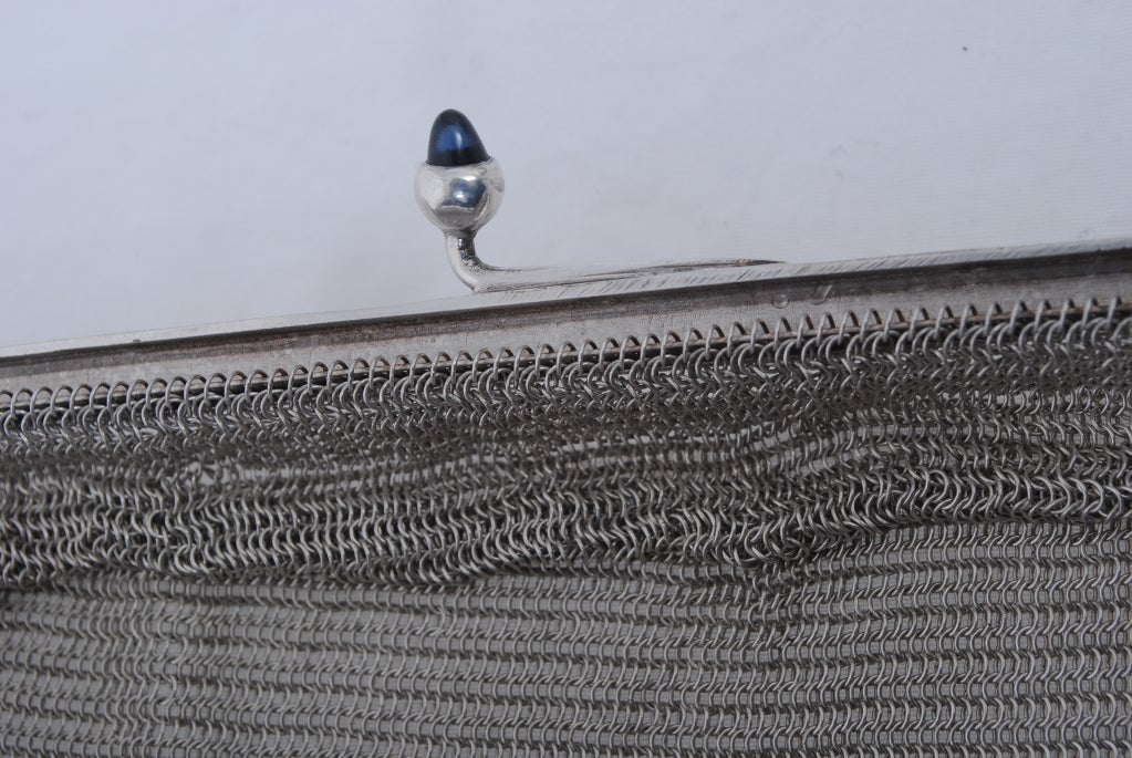 1920s Silverplate Chainmail Evening Bag image 9