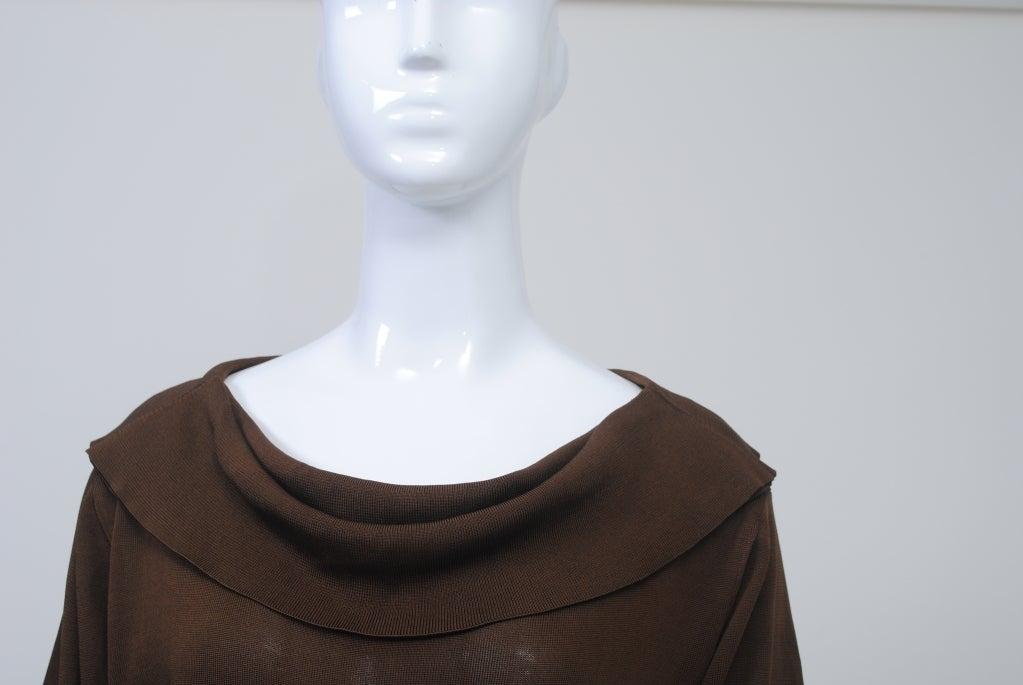 Black BRIONI BROWN KNIT DRESS For Sale