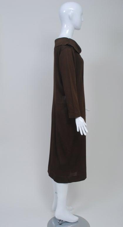 Women's BRIONI BROWN KNIT DRESS For Sale