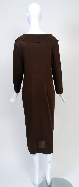 BRIONI BROWN KNIT DRESS For Sale 1
