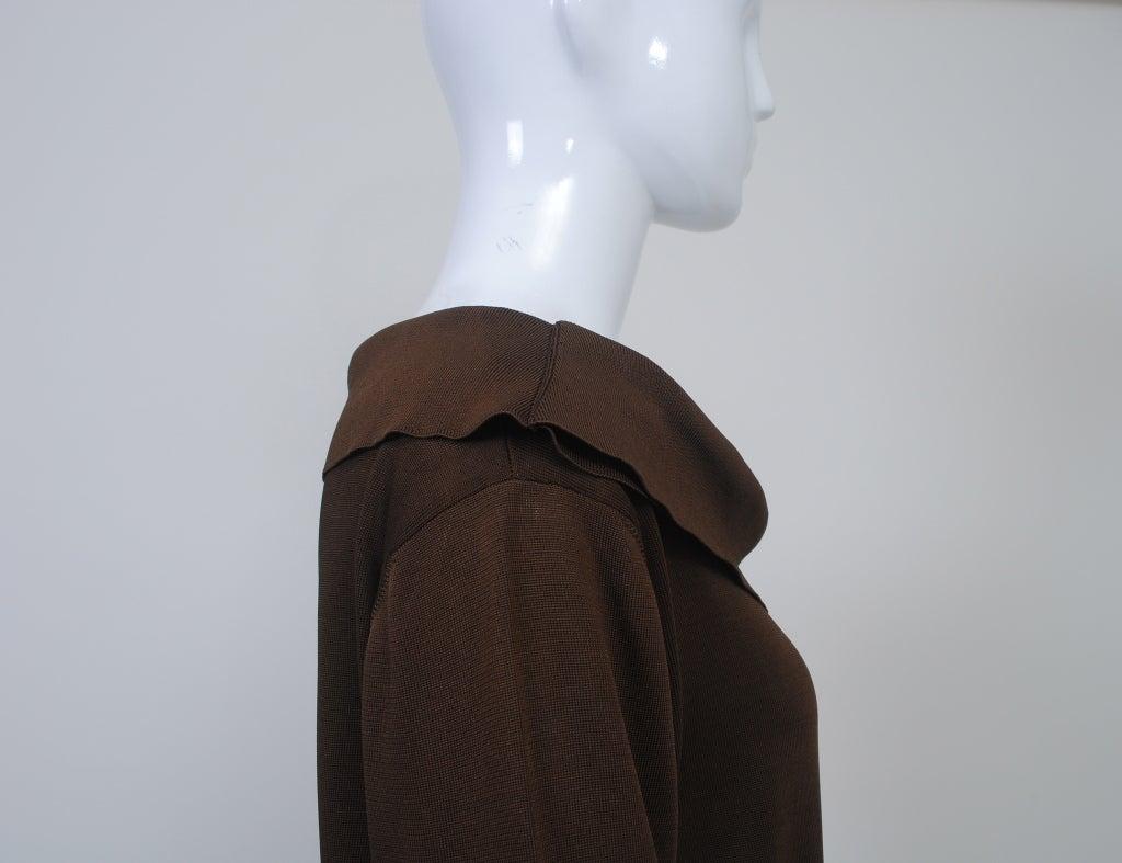BRIONI BROWN KNIT DRESS For Sale 2