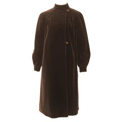 Brown Velvet 1970s Coat