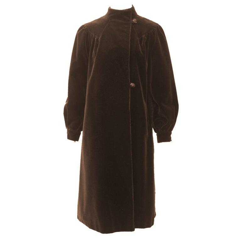 Brown Velvet 1970s Coat
