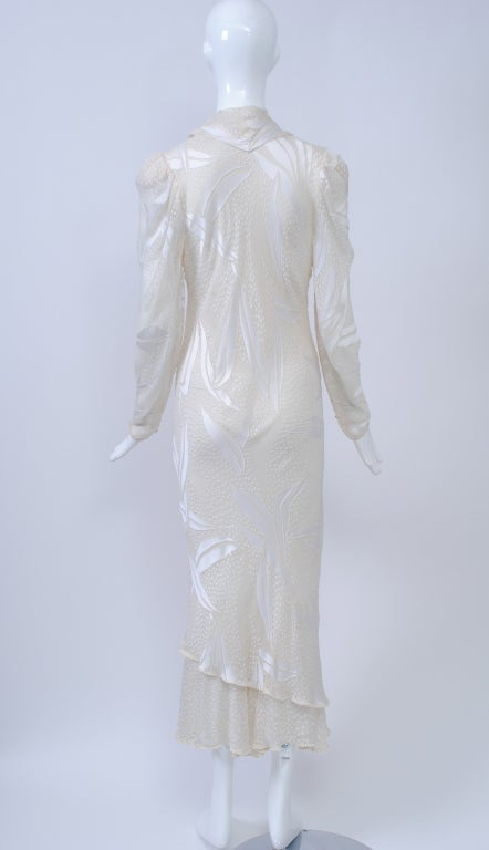 JUDY HORNBY COUTURE WHITE-ON-WHITE BIAS GOWN For Sale 1