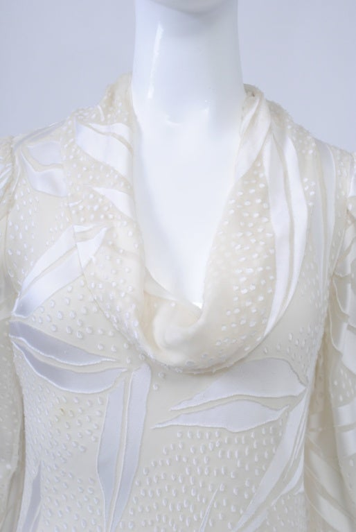 JUDY HORNBY COUTURE WHITE-ON-WHITE BIAS GOWN For Sale 2