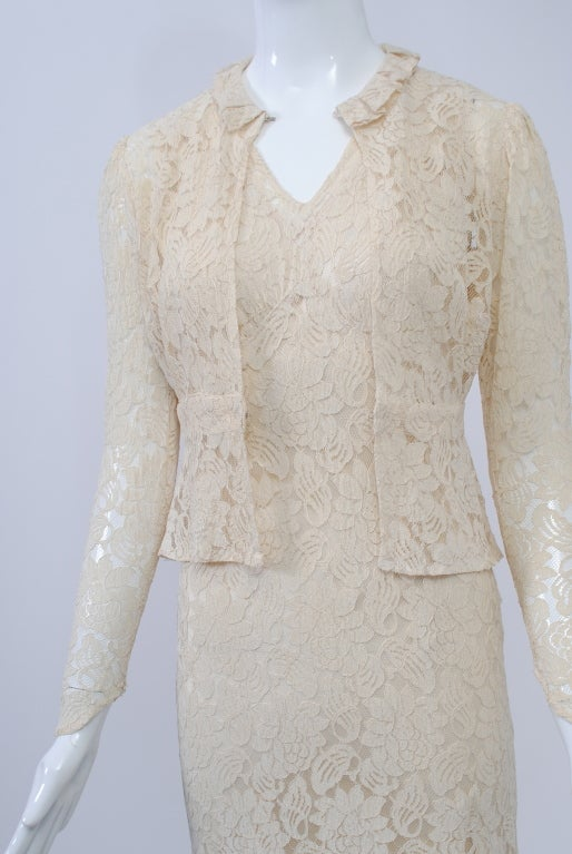 IVORY LACE 1930s WEDDING ENSEMBLE 2