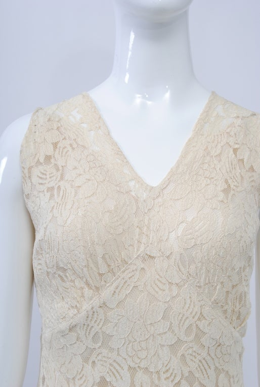 IVORY LACE 1930s WEDDING ENSEMBLE 4
