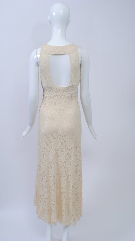 IVORY LACE 1930s WEDDING ENSEMBLE 5