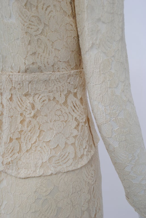 IVORY LACE 1930s WEDDING ENSEMBLE 8