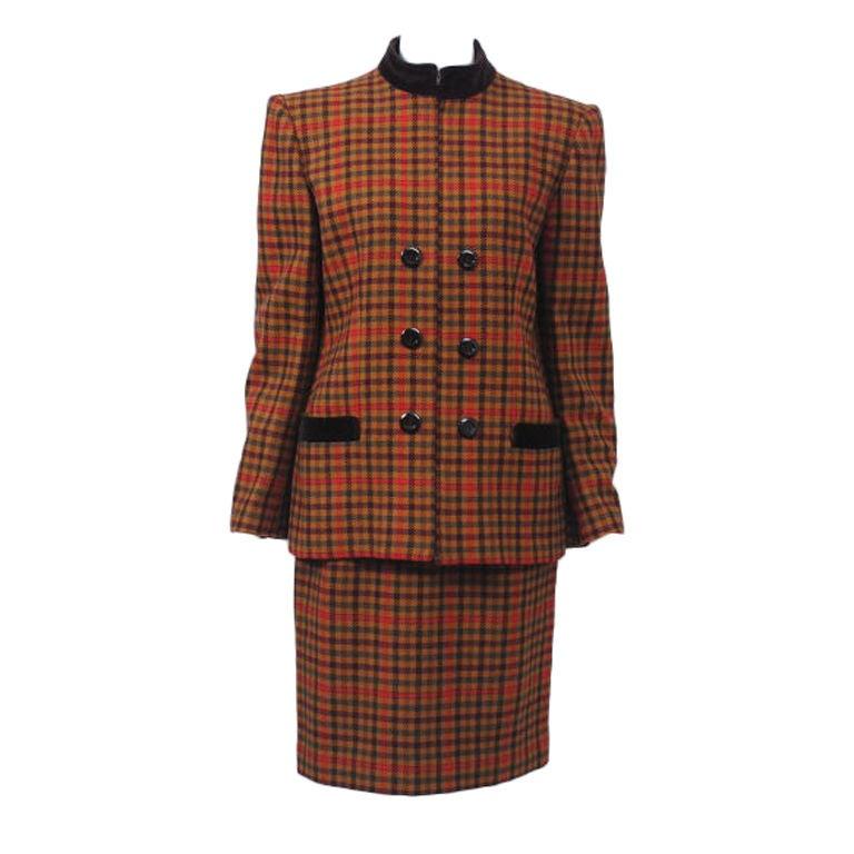 Valentino Plaid Suit For Sale
