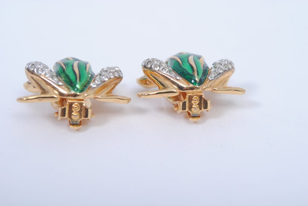 kenneth frog earrings at 1stdibs