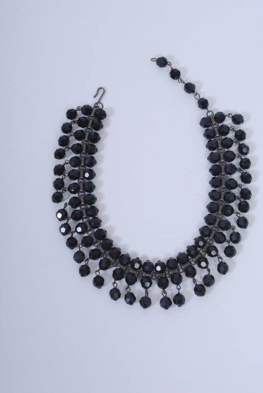 Black Jet Choker In Excellent Condition For Sale In Alford, MA