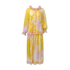 PUCCI YELLOW/PINK TWO-PIECE