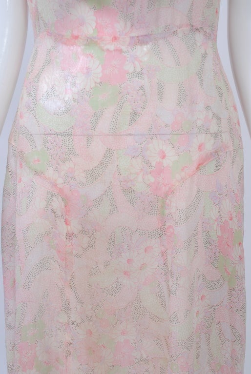 Women's 1930s Pastel Floral Print Day Dress For Sale