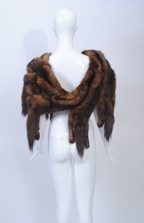 Vintage Sable Full Body Shawl For Sale At 1stdibs