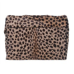 Moschino Leopard Spotted Pony Tote