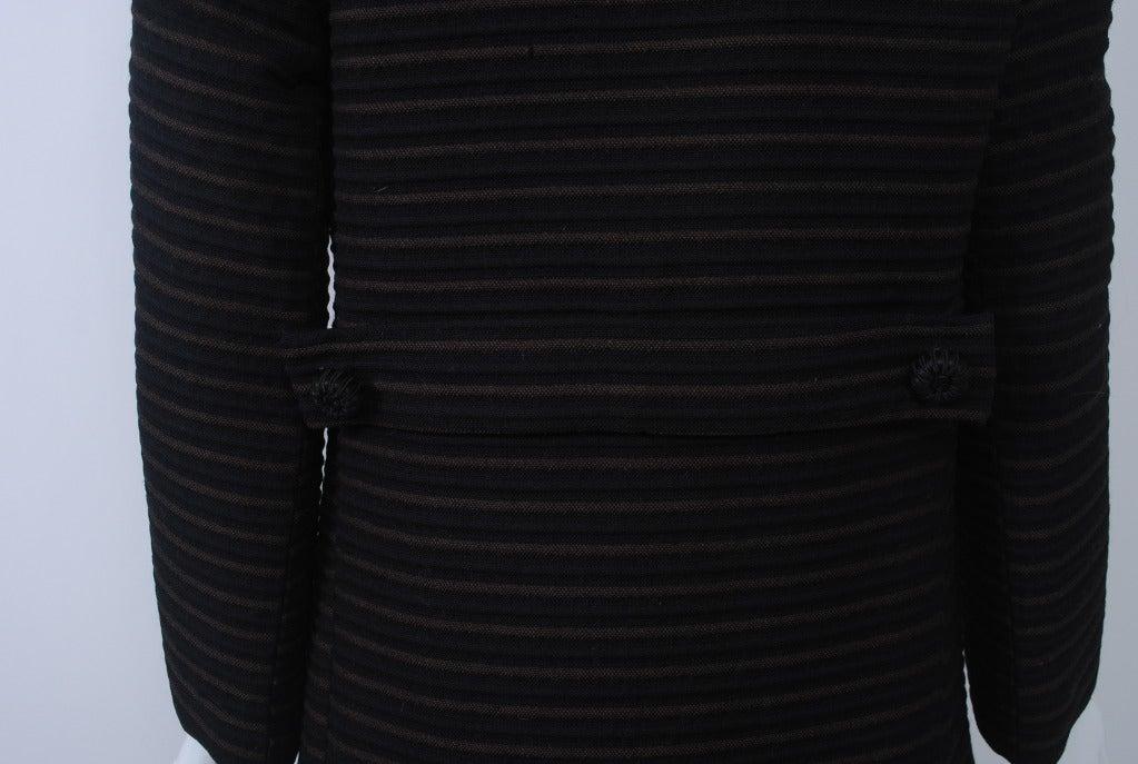 Pierre Cardin Black/Brown Ottoman Ribbed 1960s Coat 6