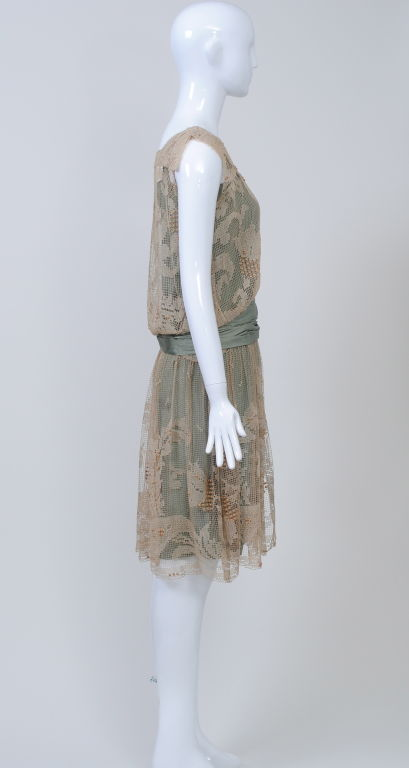 1920s ECRU LACE DRESS image 2