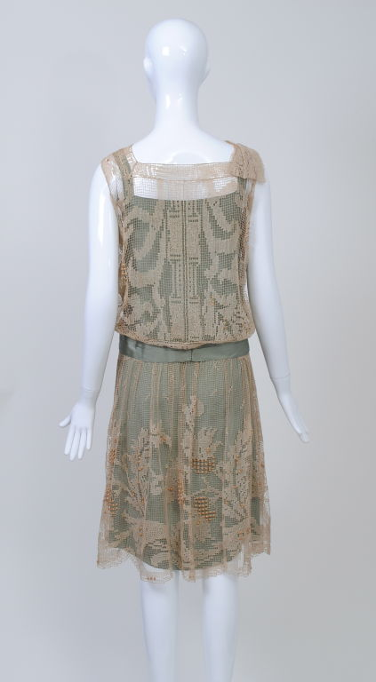 1920s ECRU LACE DRESS image 3