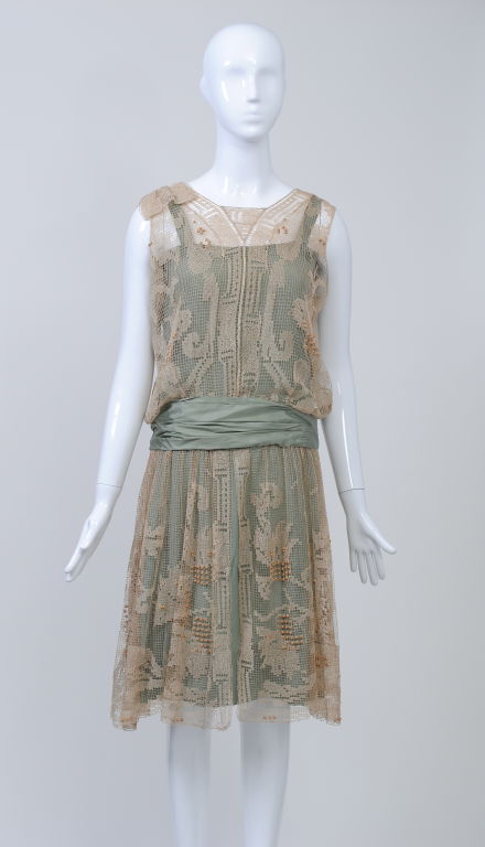 1920s ECRU LACE DRESS image 6